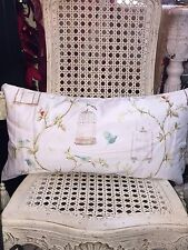 """NWT Chic Victorian Bird Cage Throw Pillow EXTRA LONG 24"""" x 12"""" So Pretty Spring"""