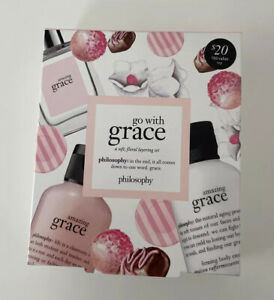 Philosophy Go With Grace Amazing Grace EDT Gift Set 3 Pieces New In Box As Pict