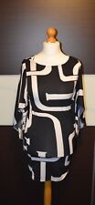 Ladies black white dress bodycon goth club  batwings alternative party XS but M