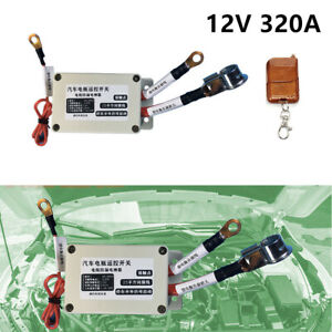 Car Battery Disconnect Isolator Cut OFF Wireless Remote Control Switch 12V 320A