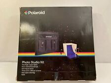 POLAROID PRO TABLE TOP PHOTO STUDIO KIT 2 LIGHTS STANDS 3 DIFFUSER SCREENS 2 LED