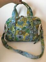 Liberty Of London For Target Yellow Green Blue Floral Fabric Handbag Hand Bag
