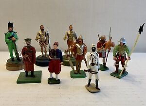Lead Toy Soldier Figure MIXED ASSORTMENT. Lot Of 9