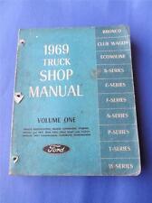 1969 TRUCK SHOP MANUAL VOLUME 1 ONE FORD BRAKES SUSPENSION STEERING WHEELS