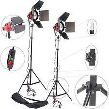 Kit Completo 2x Illuminatore da Studio Lampada Luce al Quarzo 800W e Stativo