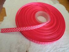 50 Yd Reel of Grosgrain Ribbon ~ 10mm Fuchsia Pink ~ Spot