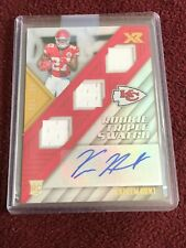 C16- 2017 XR KAREEM HUNT RC AUTO TRIPLE SWATCH CHIEFS 199