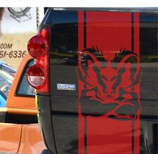 Dodge Ram 1500 5.7 L vinyl sticker, tailgate decal, stripe mopar rebel hemi logo