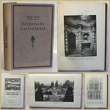 Koch Sächsische Gartenkunst 1910 Architektur Gartenbau Handwerk Technik Botanik