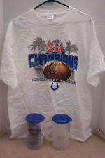 Super Bowl XLI Champions Indianapolis Colts Drink Cup And T-Shirt New!