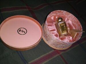 Evyan Vintage 1950's White Shoulders Perfume Bottle & Round Lace Box