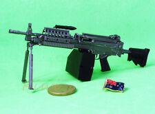 MK46_E MK46 Mod 0 Figure Para Stock Military M249 Light Machine Gun Model 1:6