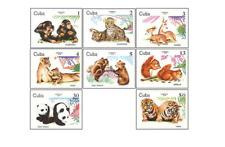 KUB7903 Wild animals, pandas, tigers and other 8pcs MNH 1979