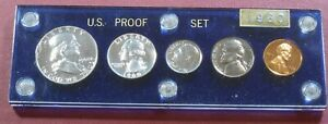 1960 Large Date Cent US Mint PROOF Set in Plastic Holder CAMEO?