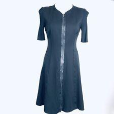 ELIE TAHARI Black Front Zip Women Dress. Size 4. Excellent Conditions
