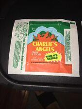 1977 CHARLIES ANGELS WAX CARD WRAPPER - GREEN