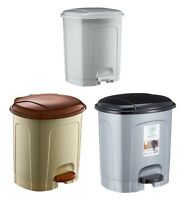 Plastic Pedal Trash Dust Bin With Bucket Home Office Kitchen 5.5, 11.5, 21, 30LT