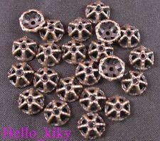 280 pcs Antiqued copper cut out star bead caps A993