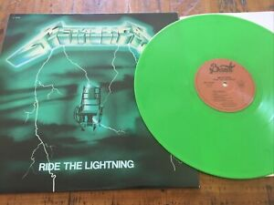 "METALLICA  RIDE THE LIGHTNING ALBUM 12"" RECORD WITH COLOURED VINYL EXCELLENT++"