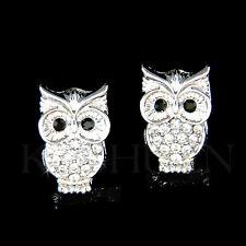 w Swarovski Crytal ~Wise~ Smart Owl Wisdom Teacher Student Stud Earrings Jewelry