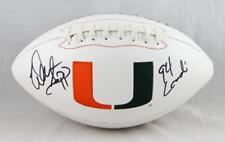 Warren Sapp Autographed Miami Hurricanes Logo Football w/ 94 Lombardi - JSA W
