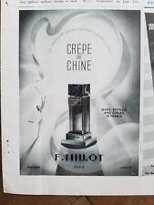 1939 crepe de Chine Millot Paris French perfume bottle ad