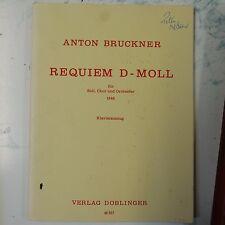 vocal score BRUCKNER d minor requiem , doblinger 46 007
