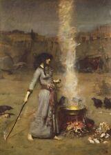 The Magic Circle, 1888, JOHN WILLIAM WATERHOUSE Pre-Raphaelite Poster