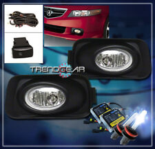 2004-2005 ACURA TSX BASE 4DR BUMPER DRIVING CHROME FOG LIGHTS LAMPS W/8000K HID