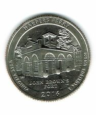 2016-P Brilliant Uncirculated Harpers Ferry National Historial Park Quarter Coin