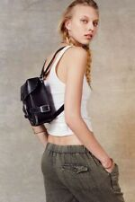 NEW URBAN OUTFITTERS PINS & NEEDLES BLACK LEATHER HARNESS MINI BACKPACK