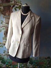 Talbots Women's Beige Irish Lined Blazer Suit Jacket Size 8P
