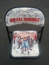 WWE Ringside Royal Rumble CHAIR CENA 2010 AUTOGRAPHED SIGNED SWAGGER KANE HARDY