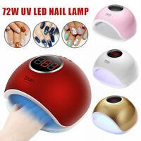 72W 33LEDs UV Nail Lamp Smart Sensing Gel Nails Polish Dryer Manicure Machine