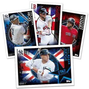 UK Topps Bowman London Series 2019 Red Sox Yankees MLB Baseball Trading cards