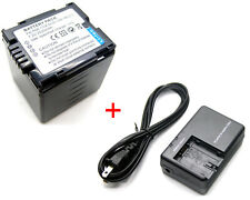 Battery + Charger for Panasonic NV-GS200 NV-GS230 NV-GS250 NV-GS258 NV-GS280