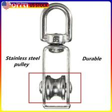 Stainless Steel M15 Single Wheel Swivel Lifting Rope Bearing Pulley Wheel Ns7