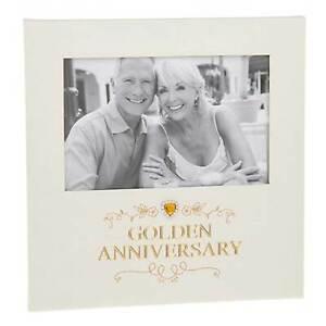 Shudehill Giftware 50th Golden Wedding Anniversary Photo Frame 6 x 4