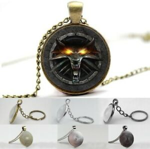The Witcher - Wolf Emblem - Photo Glass Dome Necklace, Pendant, Keyring