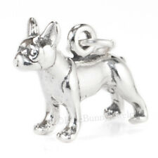 BOSTON TERRIER Dog Charm Pendant solid 925 Sterling Silver 3D .925