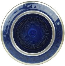 Blue Glass Decorative Plate Candle Plate 25cm Home Decor