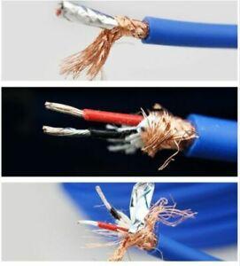HIFI Copper 2Core Wire Balance RCA Audio Cable  Silver Plated