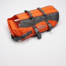 OUTWARD HOUND Raise The Woof Dog Life Jacket Orange Grey Ripstop One Size