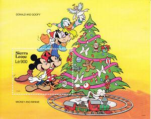 "SIERRA LEONE – 1992 ""DISNEY – CHRISTMAS / TREE, TRAIN"" SS (MUH)"