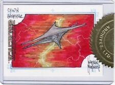 Battlestar Galactica Premiere Warren Martineck / Cylon Base Star Sketch Card a