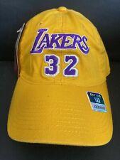 NEW LOS ANGELES LAKERS #32 Magic Johnson FLEX FIT LARGE HAT CAP