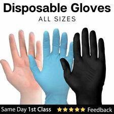 Disposable Gloves Vinyl or Nitrile Powder Free Blue Black Clear All Sizes