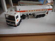 """Conrad Volvo F10 + trailer """"Oxhydrique"""" in White"""