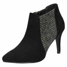 Slim Casual Textured Textile Heels for Women