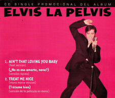 ELVIS PRESLEY- ELVIS LA PELVIS CD SINGLE VERY RARE 2 TRACK PROMO SLIM BOX ARGENT